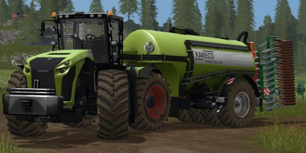 Мод трактор Kaweco Double Twin Shift Xerion VC v1.0 для Farming Simulator 2017