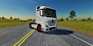 Мод тягач Mercedes Actros MP4 Truck v1.0 для Farming Simulator 2019
