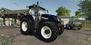 Мод трактор NEW HOLLAND T7 BLUE CHROME POWER V1.0 для Farming Simulator 2019