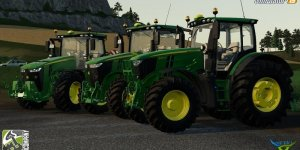 Мод трактор JOHN DEERE R-SERIES PACK BY BC6 для Farming Simulator 2019