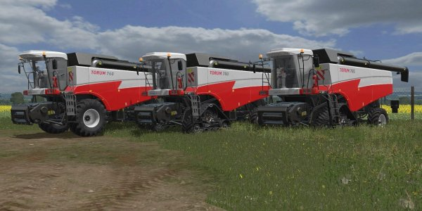 Мод комбайн ROSTSELMASH TORUM PACK V1.0 для Farming Simulator 2017