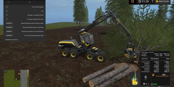 Мод звуки wood logs sound v1.0 для Farming Simulator 2019