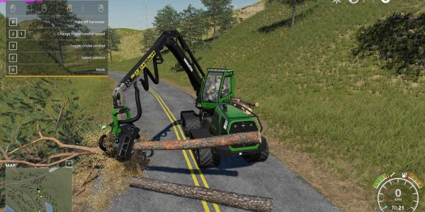 Мод инструмент Wood Harvester v1.0 для Farming Simulator 2019