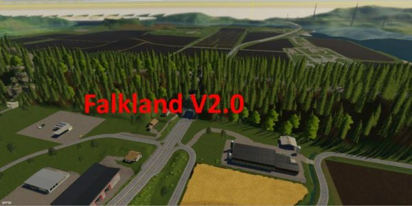 Мод карта Falkland Map v2.0 для Farming Simulator 2019