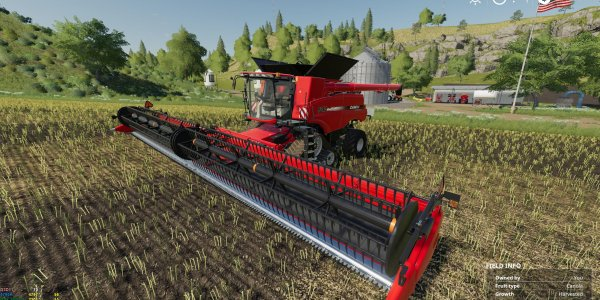 Мод комбайн Case Axial 9240 + Header Hubcap Edition v1.0 для Farming Simulator 2019