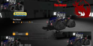 Мод трактор New Holland T9 The Beast V1.2.2.0 для Farming Simulator 2019