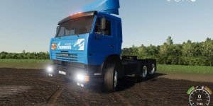 Мод тягач Kamaz 54115 Truck V3.0 для Farming Simulator 2019