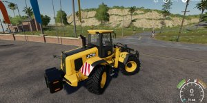 Мод погрузчик JCB Frontloader v1.1 для Farming Simulator 2019