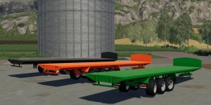 Мод прицеп Larrington 42 Foot Bale Trailer v1.0.0.0 для Farming Simulator 19