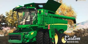 Комбайн JOHN DEERE S700 v2.0 для Farming Simulator 19