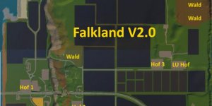 Карта Falkland Map v2.0 для Farming Simulator 2019